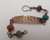Copper Falling Oak Leaf Bracelet
