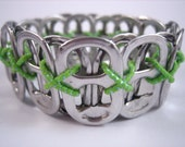 L Poppy Toppy 26 Tab Bracelet in Lime Green - size Large - Donation made to Ronald McDonald house with your purchase