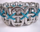 L Poppy Toppy 26 Tab Bracelet in Teal - size L - Donation made to Ronald McDonald house with your purchase