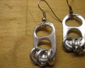 PIF - Silver Toned Pop Tab Earrings, All Aluminum - Donation made to Ronald McDonald House with your purchase