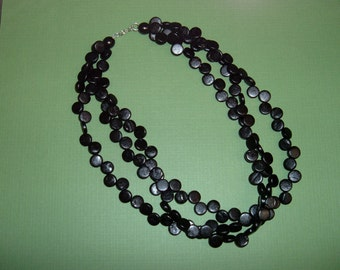 3 Strand Coco bead Necklace