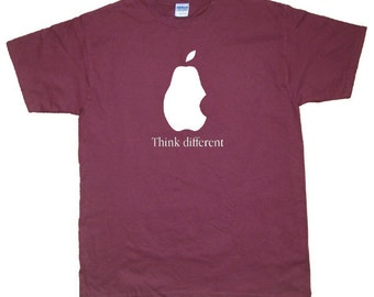 Pear Think Different, Funny Cool T-Shirt, More colors S M L XL 2X 3XL 4XL 5XL