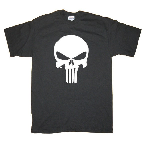 Punisher Marvel Universe Comics Cool Skull T-Shirt, More colors S M L XL 2X 3XL 4XL 5XL