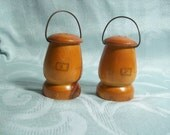 Wooden Souvenir Salt and Pepper Shakers