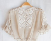 Whispers in the wind // Antique Edwardian Sheer Blouse