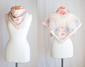 In the mood for Spring // Vintage cotton floral Shawl