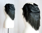 Back to Black // Antique Silk Fringe Shawl
