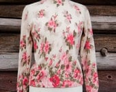 Floral Furblend // Vintage 1950s Lambswool sweater