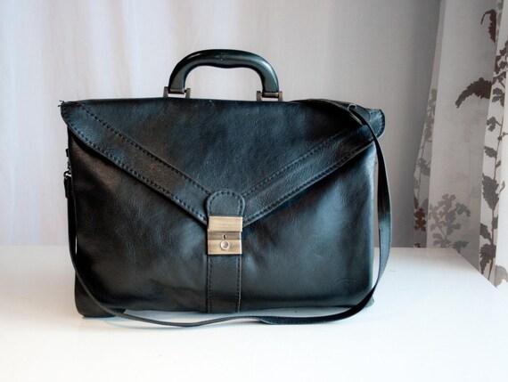 Strictly Buisness // Vintage leather Messenger bag