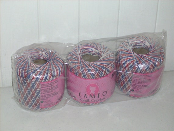 Crochet Thread Size 10 Variegated Red White And By