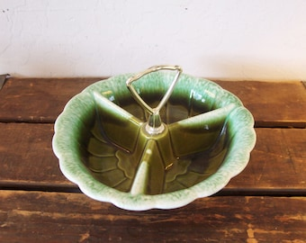 Vintage California Pottery Condiment Caddy