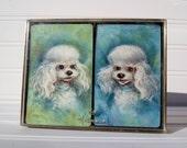Vintage Hallmark Poodle Playing Cards