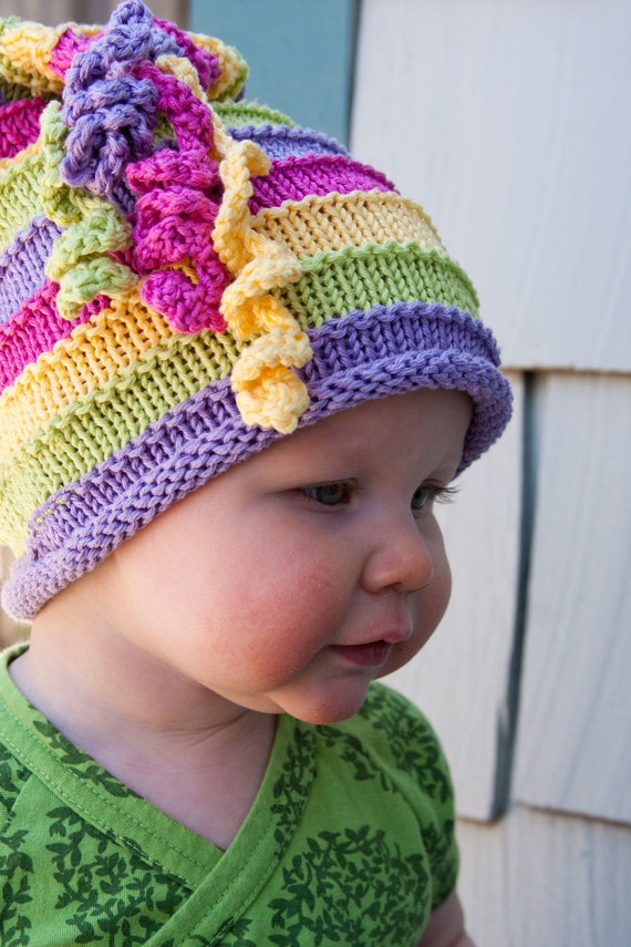 Knitting Kids Hat : Items similar to childrens knit hat ruby on etsy