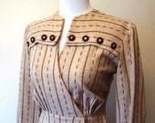 """Reserved Vintage 1940s Art Deco Dress """"Sign on the Dotted Line"""""""