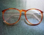 Vintage Early '90s Toffee Tortoise Shell SEXY SECRETARY Eyeglass Frames
