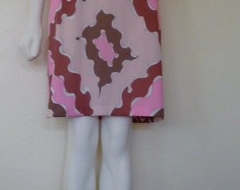 Vintage '60s Classic EMILIO PUCCI Psychedelic Half Slip / Skirt Made in Italy