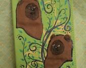 Green Ewok Hand-Painted Journal