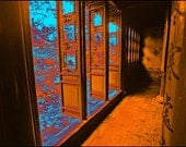 Surreal Peaceful China Carved Wood 'Garden Doorway' Suzhou Signed Fine Art Photography Print