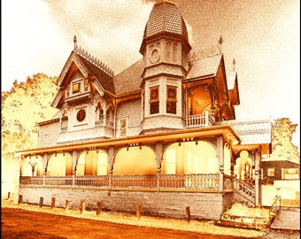 Mount Dora Historic 'Donnelly House' Ornate Victorian Surreal Pop Art Color Variations Signed Fine Art Photography Print