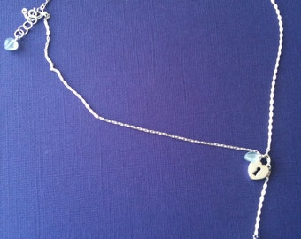 Heart Lock and Key Lariat Necklace