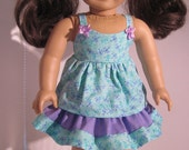 18 Inch Doll Clothes Dainty DragonFly Camisole Top w/ Skirt Matching Outfit