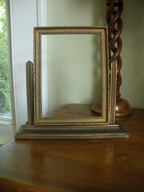 Vintage 5x7 Swing Frame Gold Tone