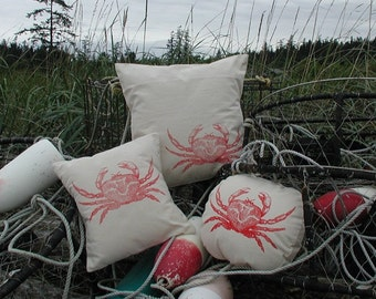 "Crab pillow cover, 18"" X 18"""