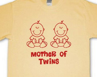 Mother of Twins T-Shirt - Yellow