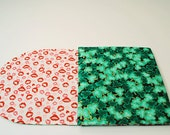 Red Lips Table Runner-Shamrocks Table Runner for Valentines Day-St.Patricks Day, Reversible, Quilted, 42 in. x 11 in.