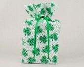 St. Patrick's Day Kleenex Box Holder/Tissue Box Cover, Shamrocks Bathroom Decoration, Irirsh/Celtic Bathroom Accessories.