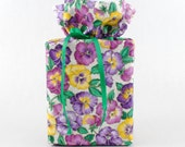 Kleenex Box Holder Pansies Tissue Box Cover Flower Kleenex Box Cover Tissue Box Holder Flower Bathroom Accessories Purple Violas Bath Decor