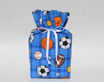 Sports-Soccer/Football/Baseball/Basketball/Hockey/Golf  Kleenex Box Cover/Tissue Box Cover, Blue Bathroom Accessories/Bathroom Decoration.