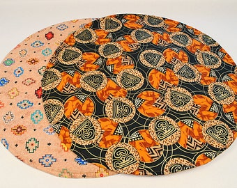 Southwestern Table Runner, Native American/Old World Home Decoration, 20 in. dia.