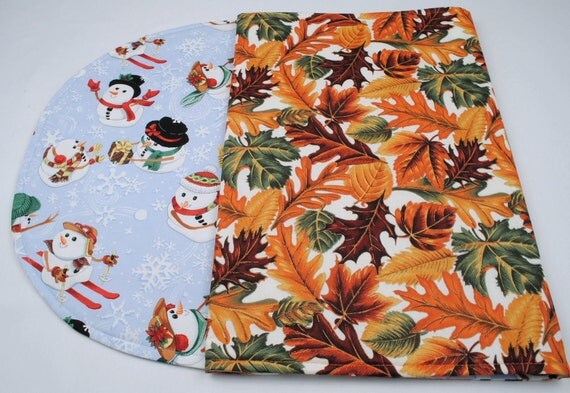 Table Runner Thanksgiving Christmas Quilted Reversible Seasonal 42 in. x 17 in.