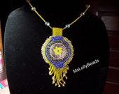 Star Flower Button Necklace