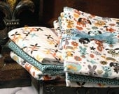 Designer Fabric Baby burp cloths - Animal Design Set of 3