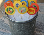 On SALE, Circus, Carnival, Zoo, Cupcake, Cake, Sweet Treat, Appetizer Toppers, Pick Your Prints