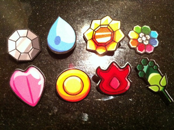 Kanto / Indigo League / Gen I Pokemon Badge Set