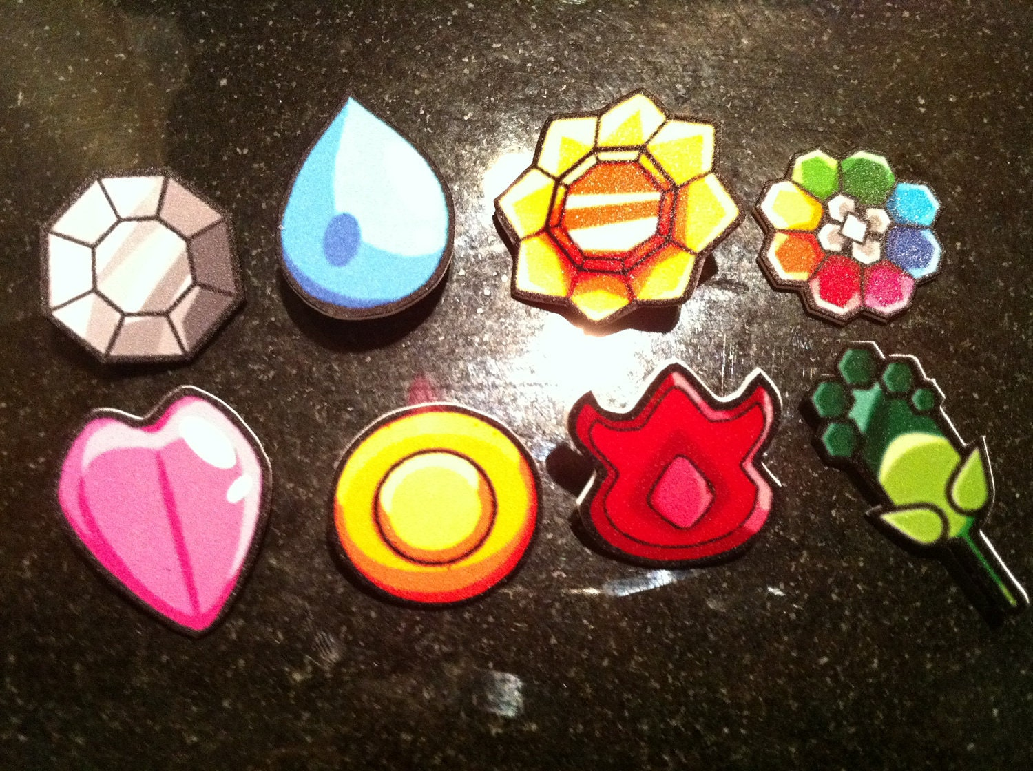 Kanto Indigo League Gen I Pokemon Badge Set
