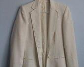 Vintage White/Off White Newsport Blazer Jacket