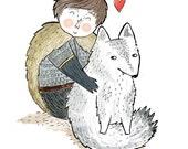 Game of Thrones - Stark Valentine print