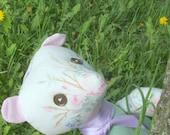 bear flower CLOTH DOLL handmade - worldwide FREE shipping