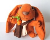 orange wool bunny rabbit - FREE shipping Etsy