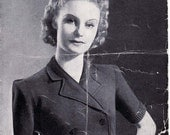 Stunning 1940's vintage knitting pattern 'Trim Little Middy Jacket'. PDF version.