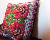 Colorful Flower embroidery  Pillow case