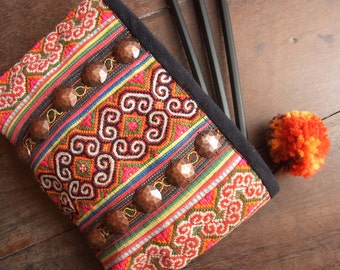 Ethnic case bag for stationery and cosmetic