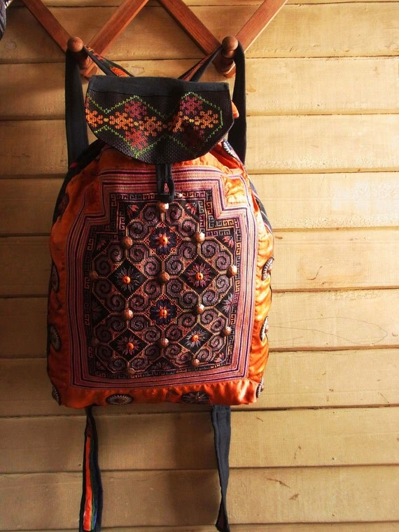 Ethnic Rucksack Made From Vintage Baby Carrier