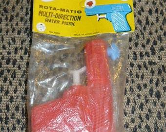 Vintage Plastic TOY WATER Gun Pistol Mint In Original Package