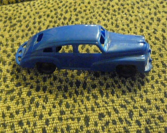 "Vintage IDEAL Toy CAR Hard Plastic 5"" long Made in USA"