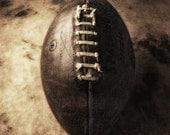 Any Given Sunday, 8x10 warm toned, still life study, Fine art Photograph of football